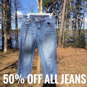 Tommy Hilfiger Capri Medium Wash Jeans Size 8